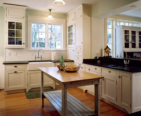 The levine group architects builders architecture for Bungalow style kitchen cabinets